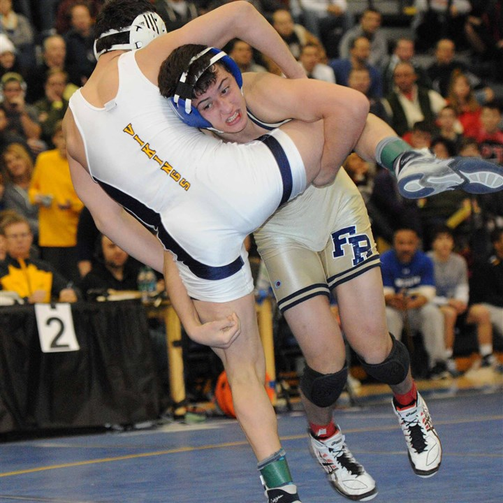 20131230hoSportsKemerer.jpg Franklin Regional's Michael Kemerer defeated Central Catholic's Vincenzo Joseph, 3-2, at the Powerade Christmas Tournament. He's favored to win the Section 1-AAA title at 138 pounds this weekend.