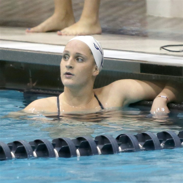 20140210hoSmithLzsports.jpg Mt. Lebanon resident Leah Smith has rested very little in Charlottesville, set several records as a freshman at the University of Virginia.