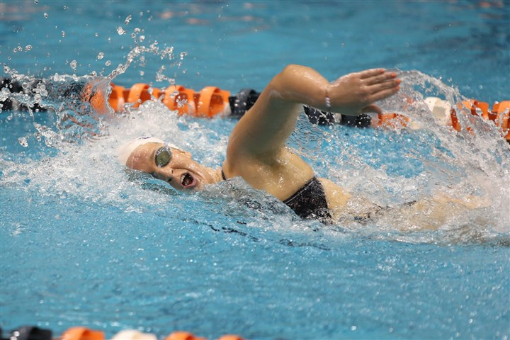 20140210hoSmithLeahzsports.jpg Leah Smith has specialized in the freestyle events, turning in some of the top times in NCAA Division I at the University of Virginia.