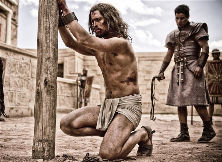 "'Son of God' Diego Morgado 03 copy Jesus (Diogo Morgado) undergoes a brutal trial in ""Son of God."""