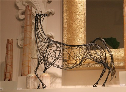 styleHorse12-1 Ming Dynasty wire horse by Studio A.