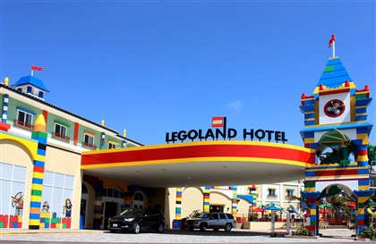 20140218hoMCLEGOLANDtravel-2 The Legoland Hotel, which opened in April, sits just outside the entrance to the theme park in Carlsbad, Calif., and is a hit with kids -- and tired parents.