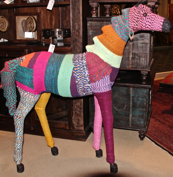 styleHorse4-4 Silk Route was showing his paper mache and yarn covered Chindi horse hand made in Nepal.