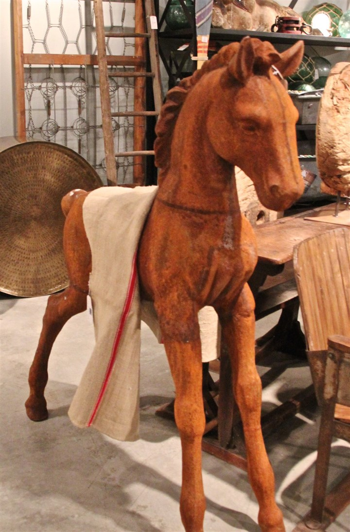 20140217StyleHorse Pre-rusted cast iron pony by Blue Ocean Traders.