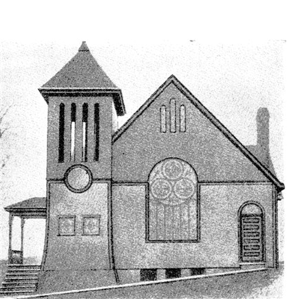 The Methodist Church, East McKeesport The Methodist Church, East McKeesport's first, was built in 1896 but burned down in 1918. A house was constructed on the foundation of the original church at 394 Lincoln Highway. The photo is from The First Methodist Church's golden anniversary (1946) booklet