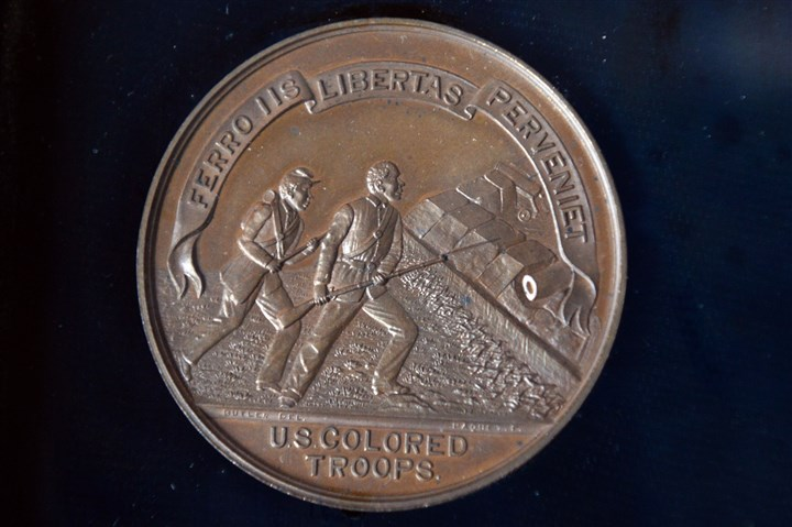 Civil War medal for U.S. Colored Troops A medal struck to commemorate the bravery of the troops.