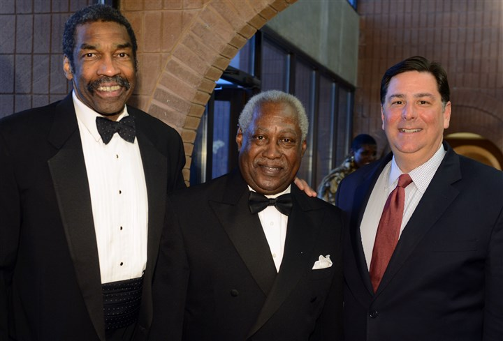 20140222bwRogerSeen08-7 Bill Strickland, Roger Humphries and Mayor Bill Peduto.