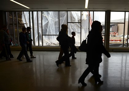 Cardinal Wuerl North Catholic High School Parents and prospective students on Sunday tour Cardinal Wuerl North Catholic High School, still under construction in its new location in Cranberry.