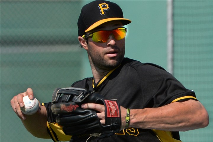 Pirates second baseman Neil Walker  Pirates second baseman Neil Walker turns double play during afternoon workouts last month at Pirate City in Bradenton, Fla.