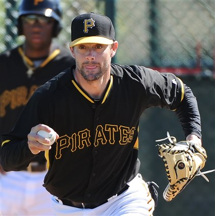 20140224pdPiratesSports01-1 Pirates catcher Chris Stewart likely will be out 4-6 weeks after having surgery.