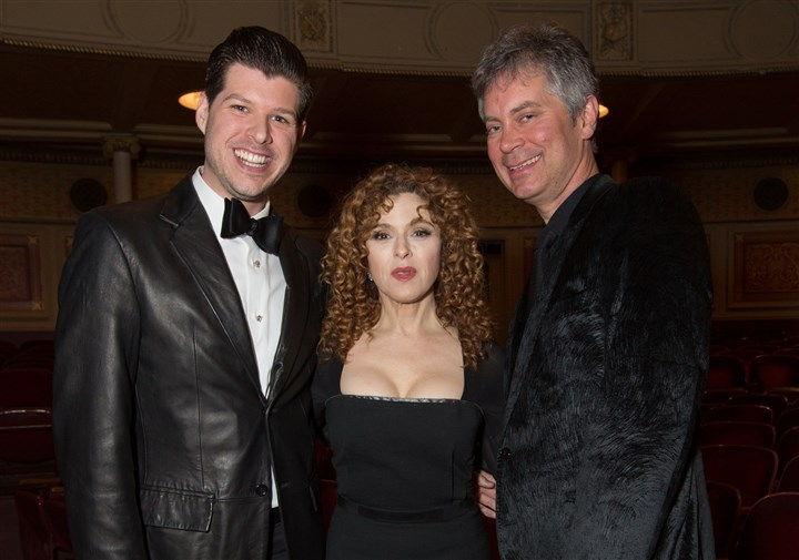 20140224hoequalitySEEN Sam Badger, Bernadette Peters and Craig McDonald.
