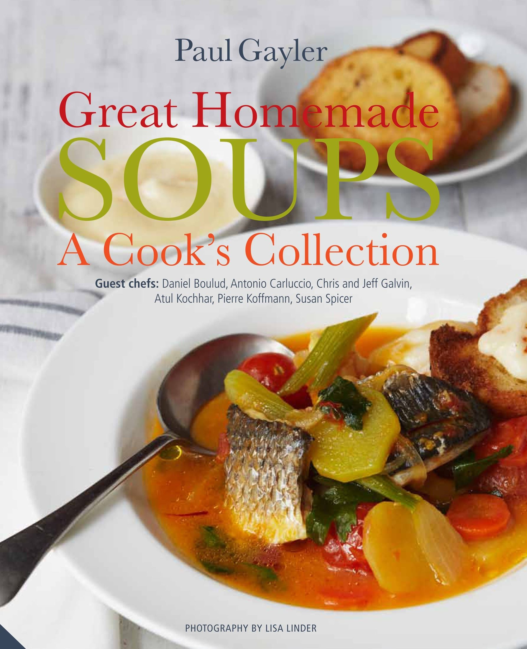 "20140224HomemadeSoups-2 This is the cover of ""Great Homemade Soups: A Cook's Collection"" by Paul Gayler (Jacqui Small, 2013, $40) ."