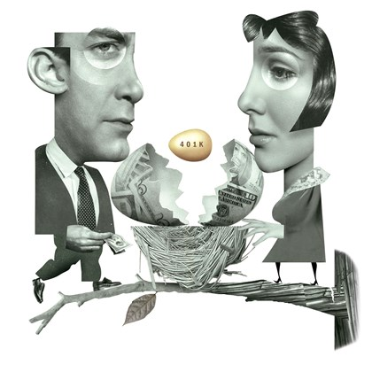 Illustration: Couple with nest egg