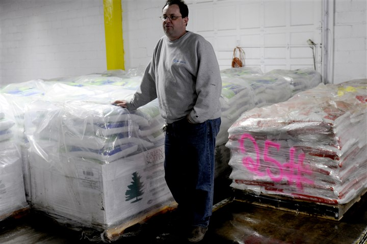 Snow and Ice Management Chuck Lantzman, owner of Snow and Ice Management, in his North Side warehouse.