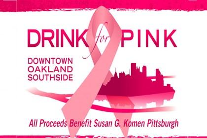 "Tonight logo for the upcoming ""Drink Pink"" event to raise money to fight breast cancer."