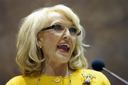 Arizona Gay Rights Arizona Gov. Jan Brewer is under intensifying pressure to veto a bill that would allow business owners with strongly held religious beliefs to deny service to gays and lesbians.
