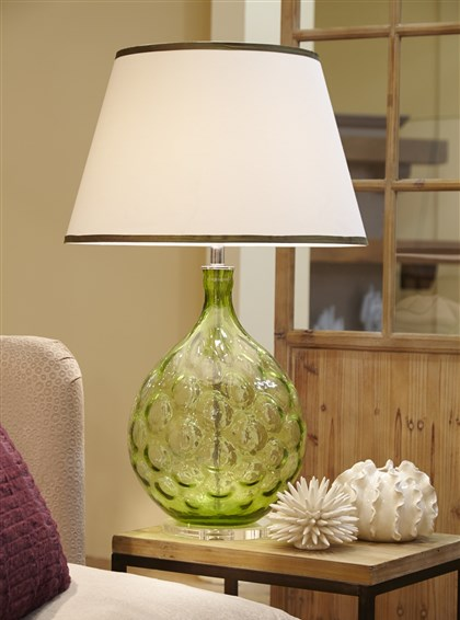 Donny Osmond Home Collection glass lamp Glass lamp by Lamp Works for Donny Osmond Home Collection.