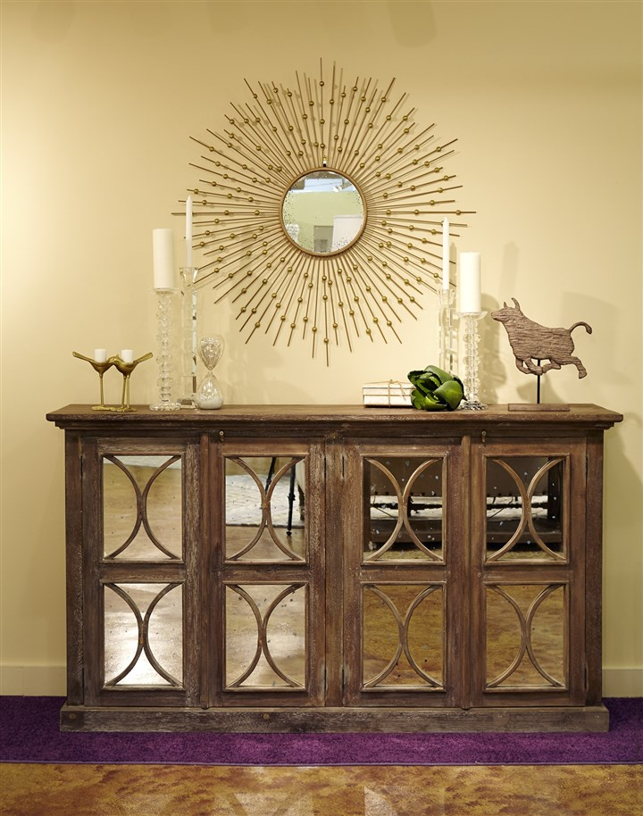 Donny Osmond Home Collection console Mirrored front console from the new Donny Osmond Home Collection.