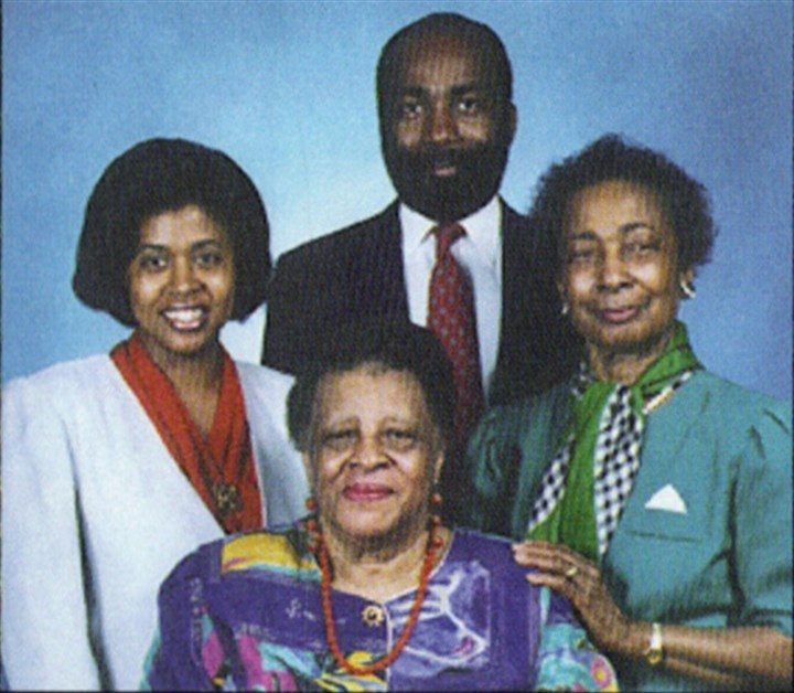 Katie and Thelma Johnson Family Clockwise from far left: Sonia Johnson and her husband Everette Johnson, Katie Johnson and Katie's sister Thelma Witherspoon.