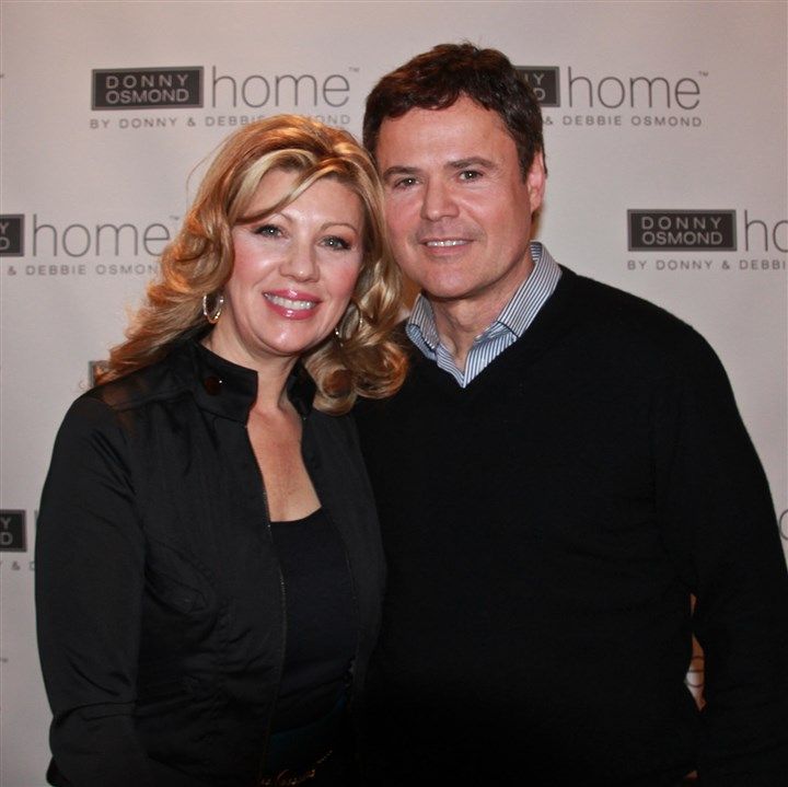 Debbie and Donny Osmond Debbie and Donny Osmond launched the Donny Osmond Home Collection during the Las Vegas Furniture Market.