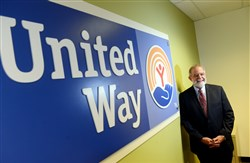 Bob Nelkin, president and chief professional officer for United Way of Allegheny County, poses for a portrait inside their Strip District office.