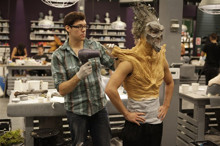 "Tyler Green on Syfy's 'Face Off' Tyler Green has been turning in some top looks on Syfy's ""Face Off."""
