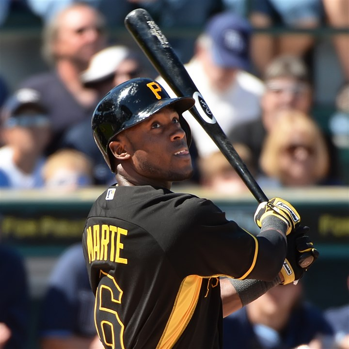 Starling Marte Starling Marte bats against the Rays earlier this month at McKechnie Field in Bradenton, Fla.