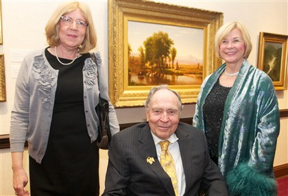 20140302SeenFrick1-4 Susan and Jack Warner with Betsy Kornhauser.