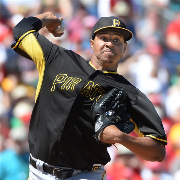 pimentel0630 Right-hander Stolmy Pimentel is impressing the Pirates staff with his work of late.