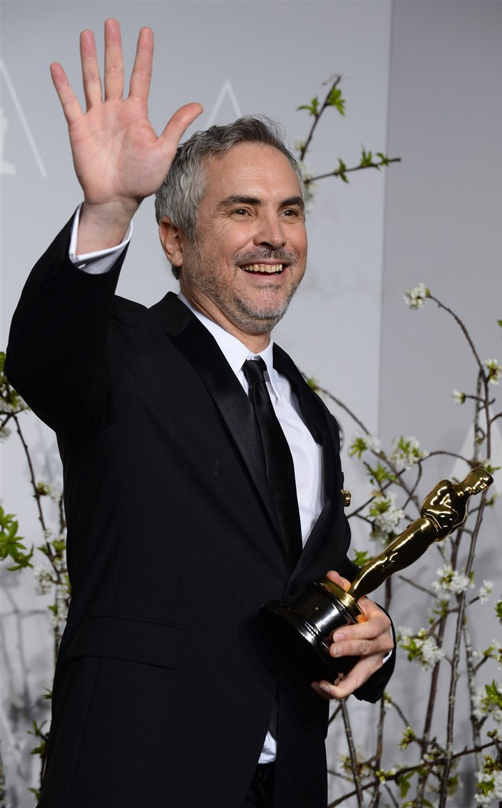 "20140303Cuaron_Oscars Alfonso Cuaron was named best director for ""Gravity,"" which won seven Academy Awards."