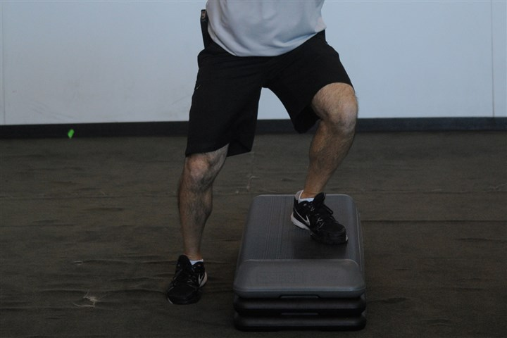 7-minute workout, lateral step agilities 8. LATERAL STEP AGILITIES. Stand parallel to an agility box with one foot on it. Jump over to the other side, placing the opposite foot on the box. Continue rapidly for 30 seconds to a minute, alternating feet on the box while moving side to side.