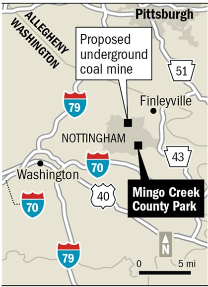 Proposed underground coal mine