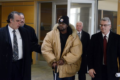 Allen Wade leaves police headquarters Police take Allen Wade, 43, from police headquarters on the North Side to Allegheny County Jail on Wednesday. Wade faces homicide charges in the deaths of two East Liberty sisters who were found dead in their home in February.