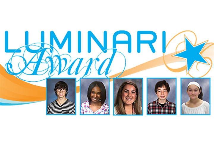 2014 Luminari scholarship winners Honored with this year's scholarships, left to right , were Jacob Clark, Zyaire Fisher, Kaylee Gross, David Han and Sydney Reyes.