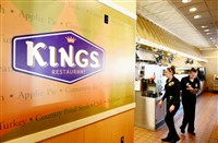 New signs, like the one at this Kings Family Restaurant in was part of a TV and marketing campaign the company launched in 2014.