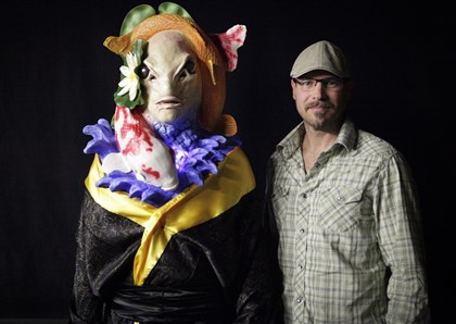 "20140306hoFishMag Savini school grad Daran Holt won not one, but two anime challenges this week on Syfy's ""Face Off."""