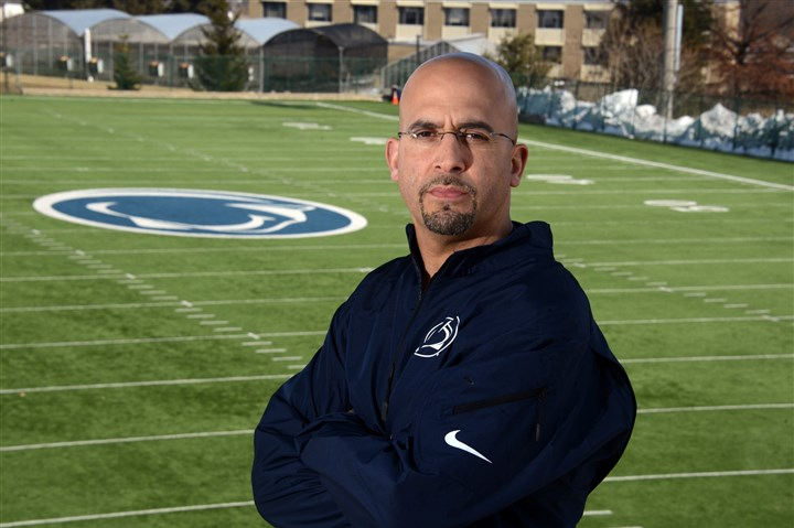 20140307lfCoachSports01 Penn State football coach James Franklin at State College.