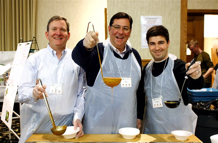EmptyBowl event Bill Dickson, Mayor Bill Peduto and Councilman Corey O'Connor.