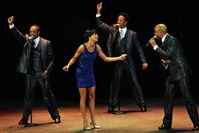 "Cast members of ""Motown the Musical"" perform ""Dancing in the Street"" at the Byham Theater."