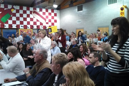 Mars Area School District's public comment session Residents at the Mars Area School District's public comment session last night on a plan to allow Rex Energy to drill under district schools.