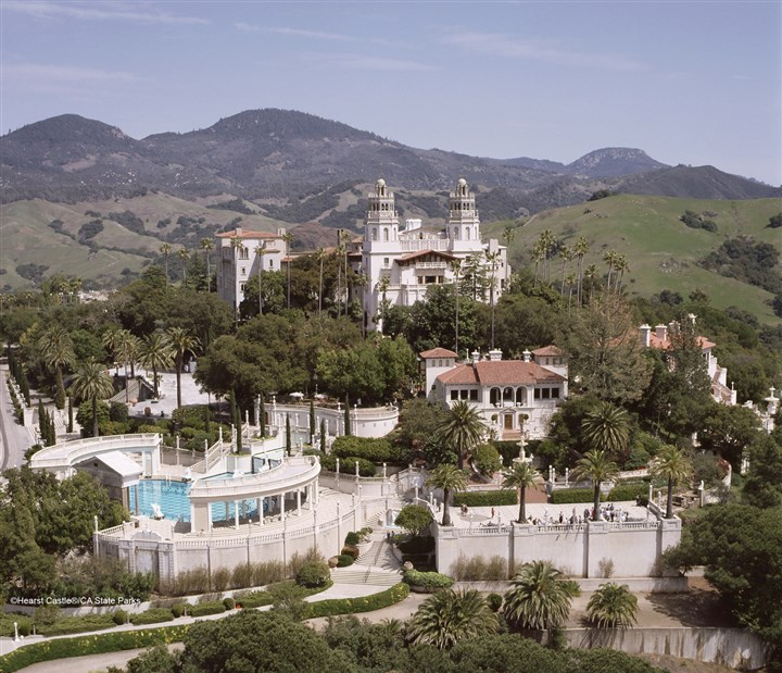 Ariel view of Hearst Castle  Aerial view of Hearst Castle in California. HEARSTCASTLE0316 Hoover