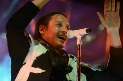 Win Butler of the band Arcade Fire at PPG Paints Arena in 2014.