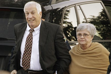 Penn State Abuse Former Penn State assistant football coach Jerry Sandusky and his wife, Dottie Sandusky, in 2011.