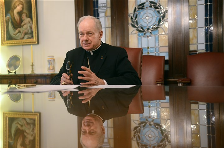 Bishop Lawrence Brandt Bishop Lawrence Brandt, who has led the Roman Catholic Diocese of Greensburg since 1994 but must resign when he turns 75 on Thursday, talks about his impending retirement at the Pastoral Center in Greensburg.
