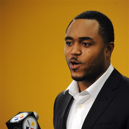 Steelers' Mike Mitchell Mike Mitchell speaks at a press conference on the South Side in March.