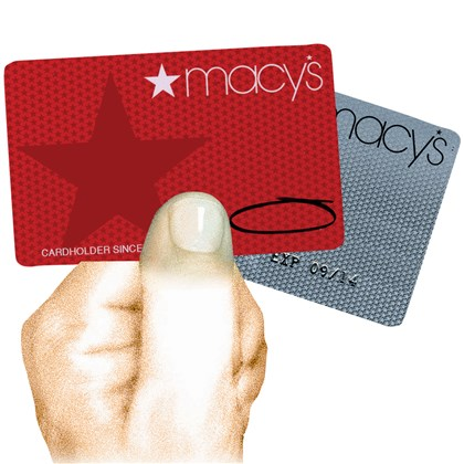 Illustration: Credit cards with no date The Macy's department store chain recently eliminated expiration dates form its credit cards.