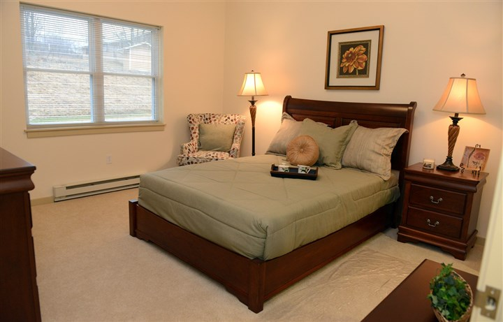 bedroom in one of the apartments A bedroom in one of the apartments at Overbrook Pointe.