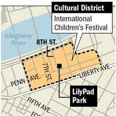 Map: Pittsburgh International Children's Festival