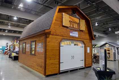20140313bwShedsHomes02 The Hi-Loft Barn by American Structures and Patios comes with a loft. It measures 20 feet by 16 feet and costs $10,300 at the show. It is among several sheds on display at the Home & Garden Show in the David L. Lawrence Convention Center, Downtown.