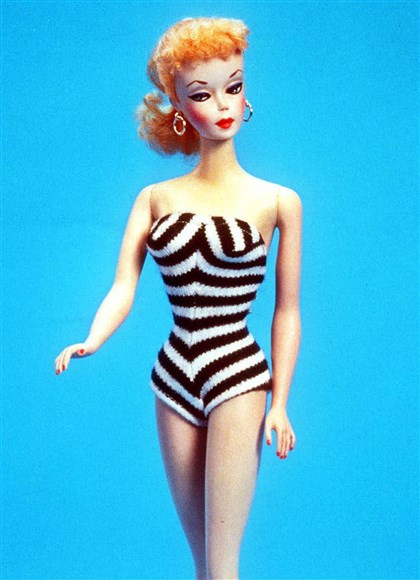 The original 1959 Barbie doll. The original 1959 Barbie doll.